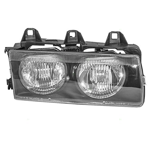 Passengers Headlight Headlamp Replacement for BMW 63121387862 ()
