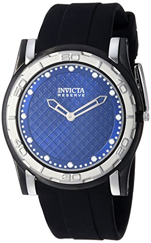 Invicta Men's 'Reserve' Quartz Stainless Steel and Silicone Casual Watch, Color:Black (Model: 23947)