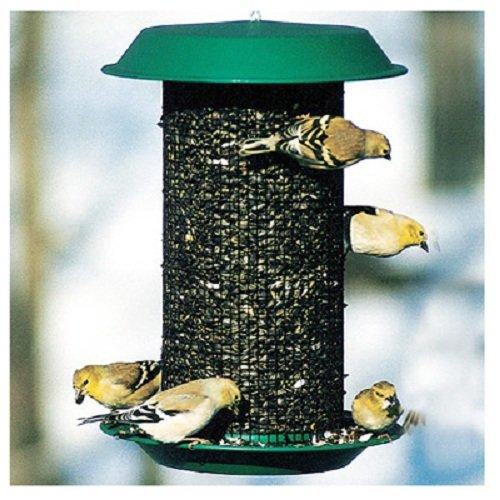 Woodlink NAMAG1 Audubon Hunter Plastic Oil Sunflower Bird Magnum Wild Bird Feeder, Green ()