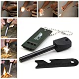 Aocor Portable Outdoor Mini Survival Spark Force Fire Starter Magnesium Flint Firesteel Compact Firestarter Tool