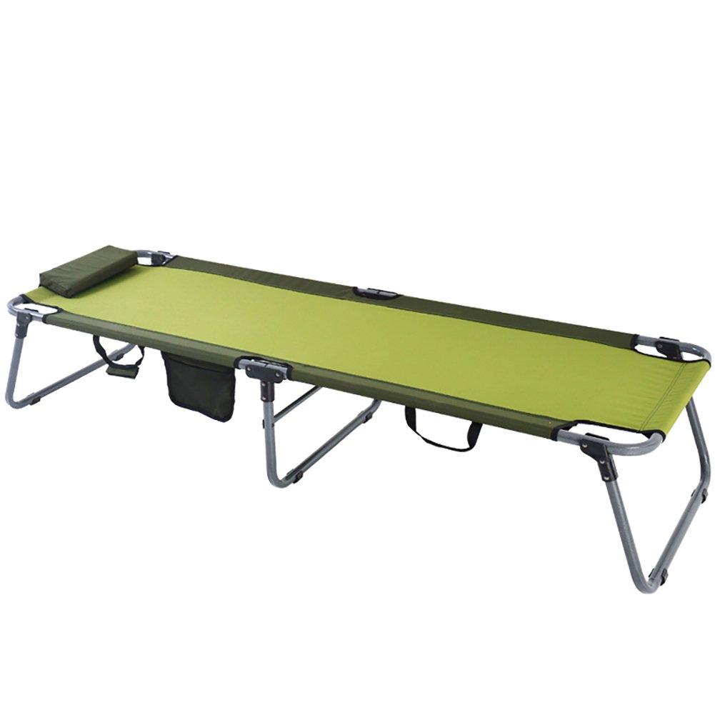 WSSF- Falten Zelten Zelt Bett Büro Single Mittagspause Siesta Bett Lounge Stuhl Stahl Tragbar im Freien Camp Reisebett - Tragfähigkeit bis zu 100 kg