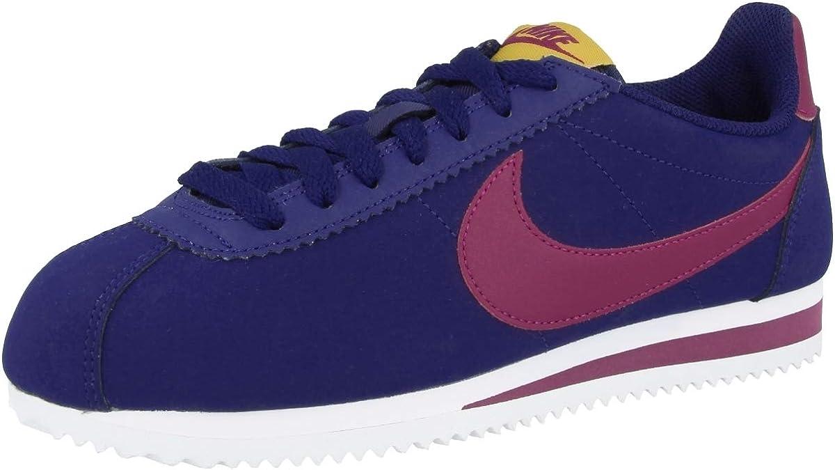 Nike Wmns Classic Cortez Leather, Scarpe Running Donna Multicolore Blue Void True Berry Dark Citron White 406