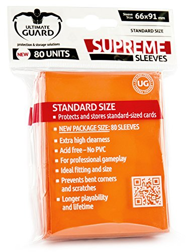 Amazon.com: Ultimate Guard Supreme Orange Sleeves (80): Toys ...