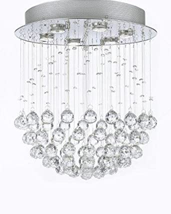 Modern Contemporary Chandelier Rain Drop Chandeliers Lighting with Crystal Balls W18 H21