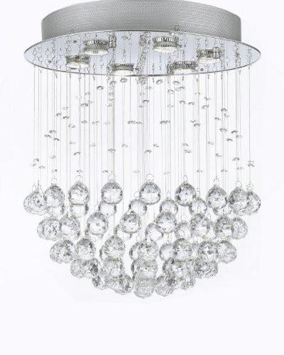 "Modern Contemporary Chandelier""Rain Drop"" Chandeliers Lighting with Crystal Balls! W18″ H21″ For Sale"
