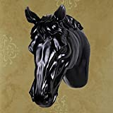 HOMEE European Resin Horse Wall Hanging Wall Decoration Mysterious Wall Decoration the Bar is Decorated on the Wall Simulation Animal Animal Head Creative Wall Decoration (Color Optional),B
