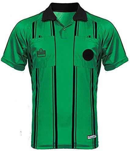 Admiral Short Sleeve Pro Soccer Referee Jersey, Emerald/Black, Adult Medium