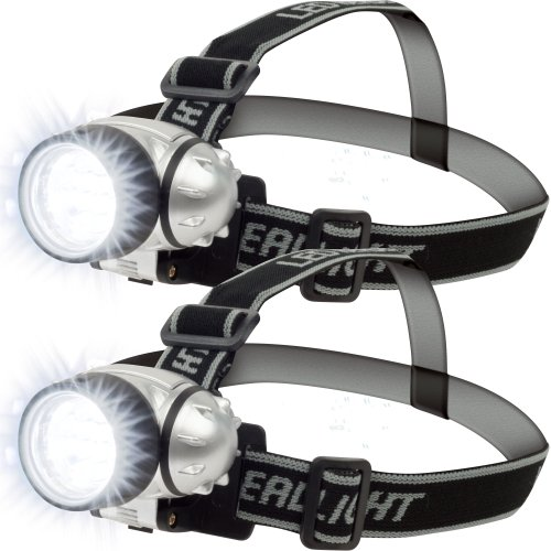 Set of 2 Super Bright 12 LED Headlamp Adjustable Strap, Outdoor Stuffs