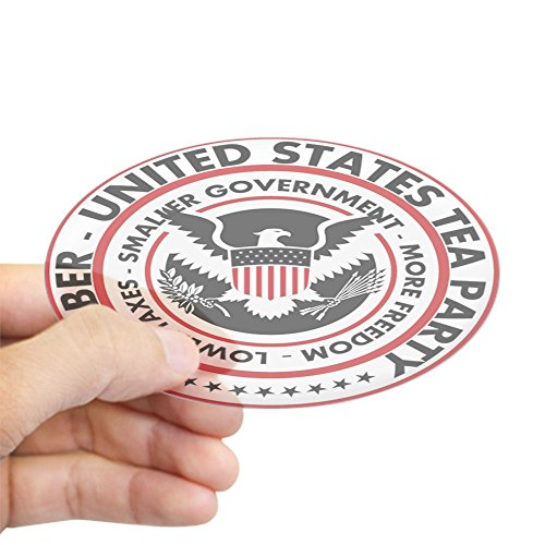 CafePress - US Tea Party Sticker (Oval) - Oval Bumper Sticker, Euro Oval Car - Bumper Palin Stickers Sarah