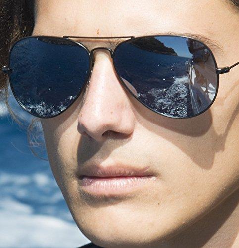 Rocker cristales Lens desol anti polarizados Azul Cressi Gafas Plata hombre polarizadas para 100 UV fxnCqdw