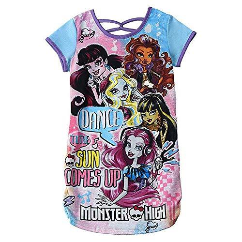 Character Sleepwear Girls Monster High Nightgown, M, Blue -
