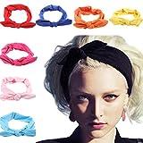Lanzom 8 Pieces Women Fashion Elastic Hair Band Turban Head Band Hair Accessories (Style A)