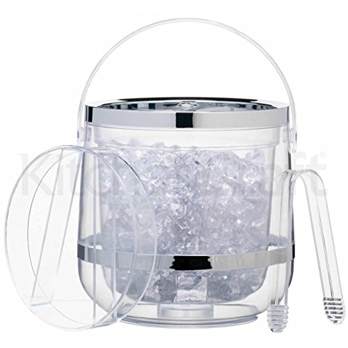insulated clear ice bucket - 6