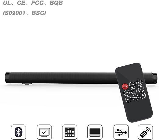 HAIT Equipo De Cine En Casa Eco De Pared Sonido Smart TV Barra De Sonido Altavoz Bluetooth Subwoofer Negro: Amazon.es: Hogar