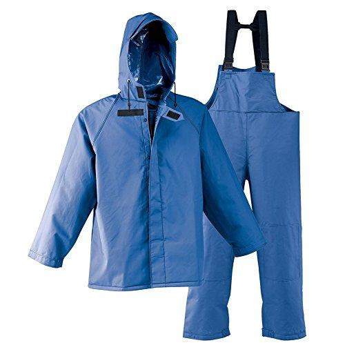 Galeton 7954-XL-BL 7954 Repel Rainwear 0.50 mm PVC 3-Layer Fishermans Rain Suit, Blue, X-Large by Galeton (Image #2)