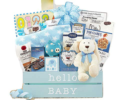 Wine Country Gift Baskets Welcome Home Baby Boy Basket Congratulations Newborn Baby Blue New Arrival Baby Shower Gift