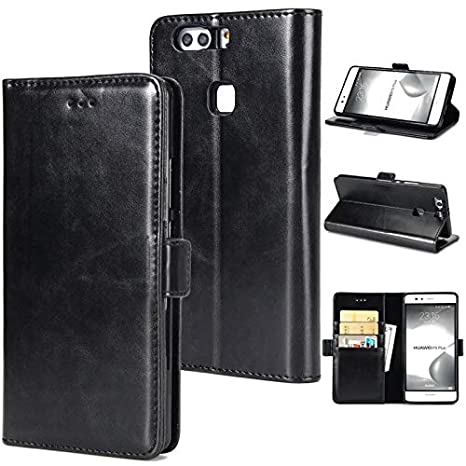 Amazon.com: Weejb Huawei P9 Plus Wallet Case, Retro Folio ...