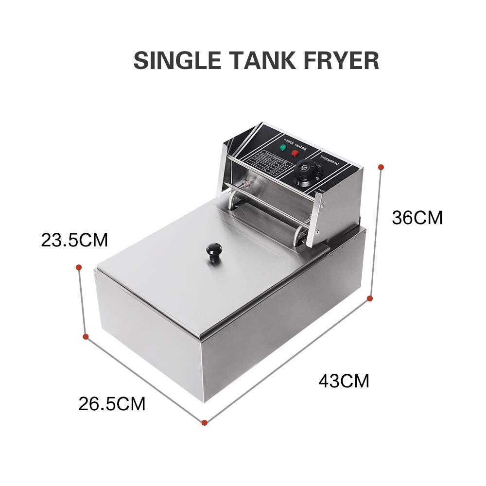 Freidora eléctrica profesional de acero inoxidable para churros Papas fritas coreanas Pollo frito Twister espiral Tornado Potato 220V: Amazon.es: Hogar