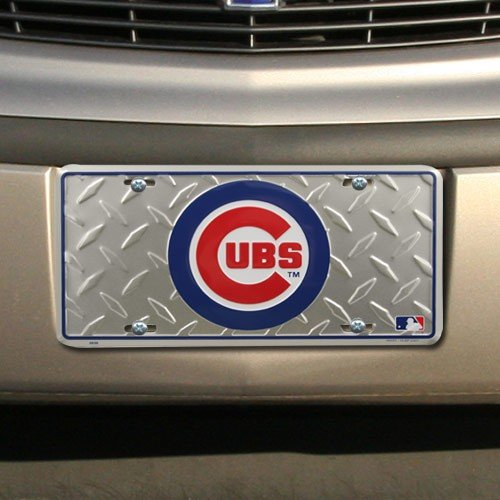 Cubs Mlb Chicago Pattern - MLB Chicago Cubs Diamond Metal License Plate