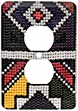 3dRose lsp_132079_6  Traditional Beaded Art, Craft, South Africa, Africa Af42 Kwi0032 Kymri Wilt 2 Plug Outlet Cover
