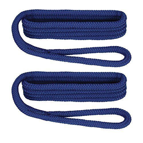 - Extreme Max 3/8-Inch x 6-Feet 3006.2171 BoatTector Double Braid Nylon Fender Line-3/8 x 6', Royal Blue
