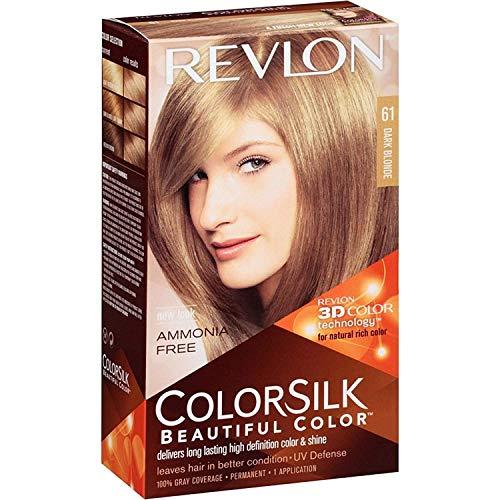 Revlon ColorSilk Beautiful Color, Dark Blonde [61] 1 ea (Pack of 3)