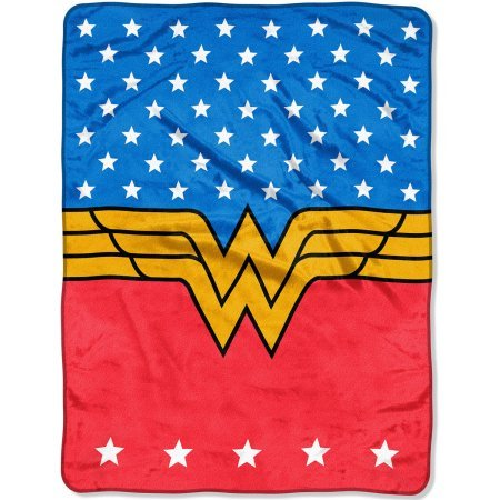 Micro Plush Raschel (Super Plush, Warm, and Colorful Warner Bros.' Wonder Woman,
