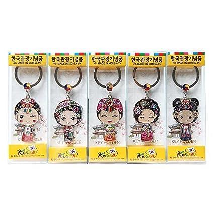 Amazon.com: yewon étnico Corea Llavero Set 5pcs/Preparar a ...