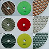 4'' inch Professional Diamond Dry Polishing Pad(Buff : Dark)
