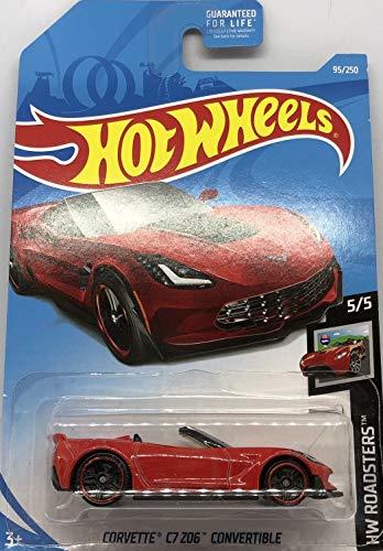 (Hot Wheels 2019 Hw Roadsters 95/250 - Corvette C7 Z06 Convertible (Red/Black))
