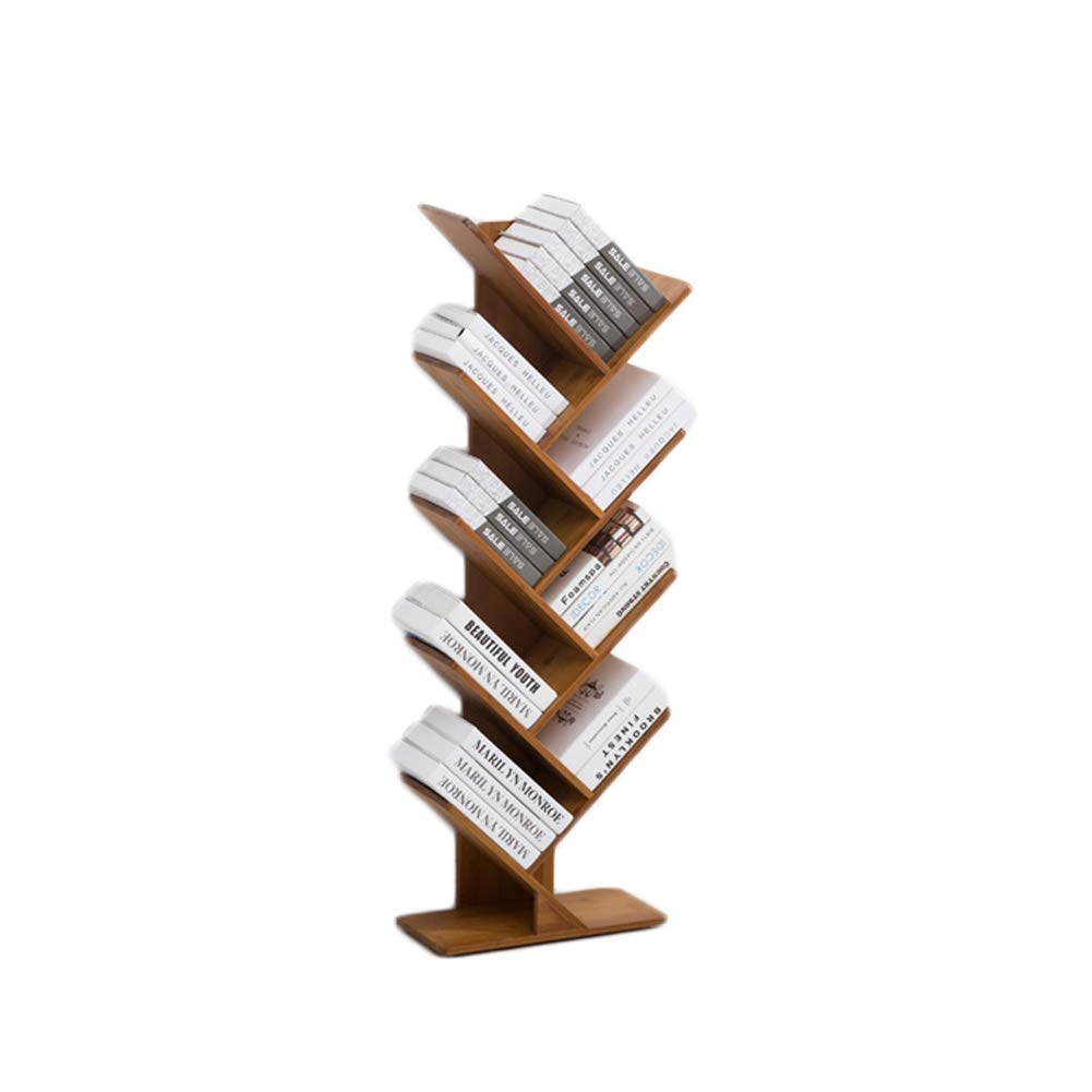 C 44x20x132cm(17x8x52inch) DOUERDOUYUU Exquisite bookcase Tree Bamboo Bookshelf,Sturdy Display rack Multifunctional Modern Storage organizer Shelving unit Open shelf For cds & books-B 44x50x106cm(17x20x42inch)