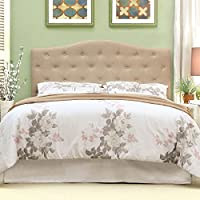 247SHOPATHOME Idf-7989IV-HB-T Headboards, Twin, Ivory