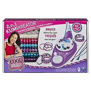 Cool Maker 2-in-1 KumiKreator Necklace & Friendship Bracelet Maker Activity Kit for Kids Ages 8 & Up