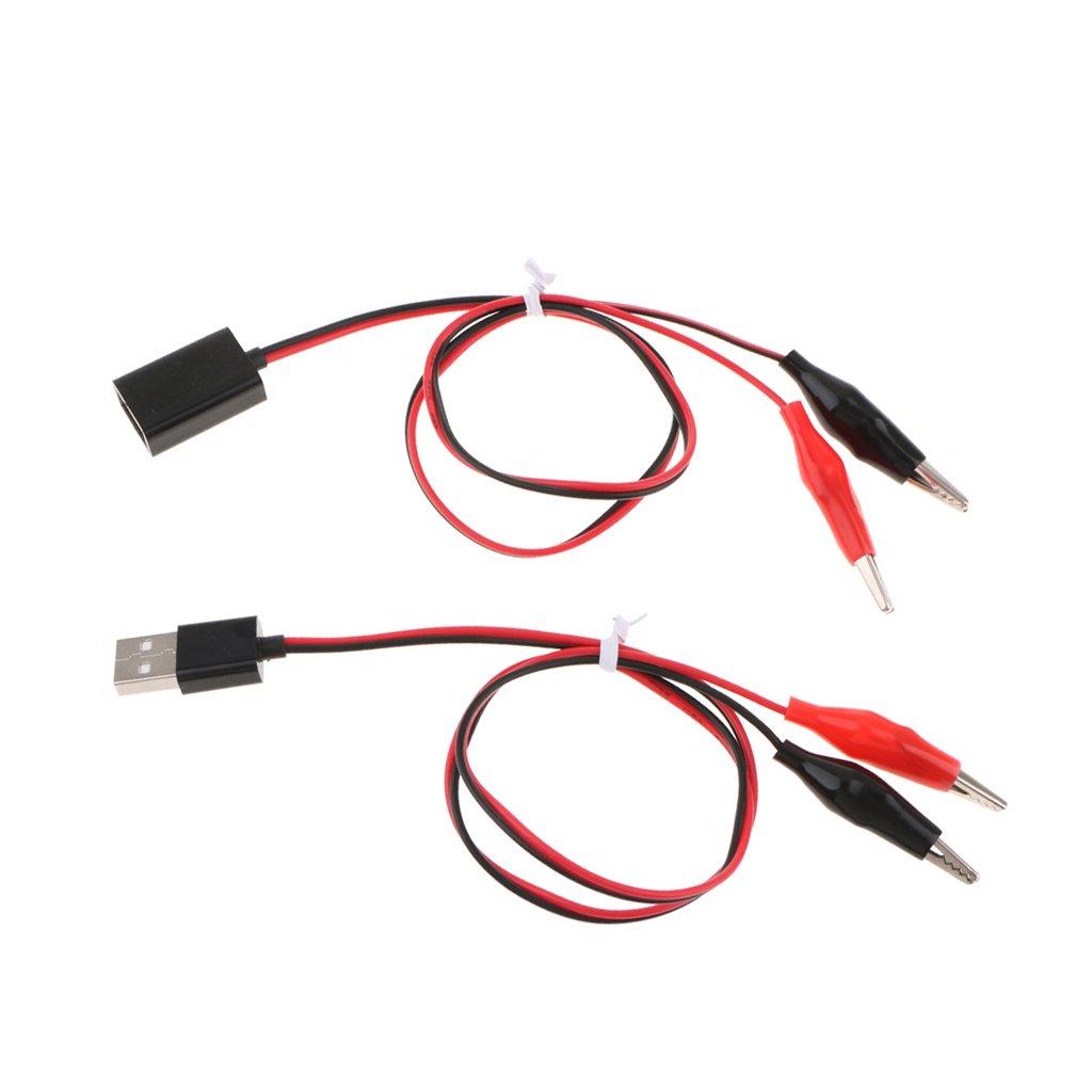 Pinzas de Cocodrilo para USB Hembra Cable de Prueba Alambre 53cm Clips Pinzas de Cocodrilo para USB Macho