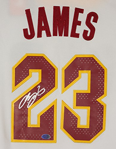 Lebron James Cleveland Cavaliers Cavs Signed Autographed 2018 New Style White #23 Jersey (Lebron James Style)