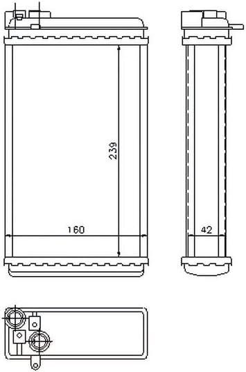 Nissens 73255 Heat Exchanger interior heating