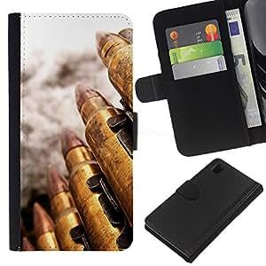 All Phone Most Case / Oferta Especial Cáscara Funda de cuero Monedero Cubierta de proteccion Caso / Wallet Case for Sony Xperia Z1 L39 // Bullet