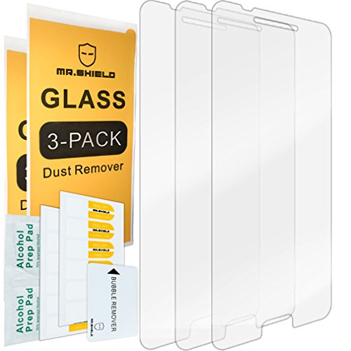 [3-Pack]- Mr.Shield for HTC One A9 [Tempered Glass] Screen Protector [0.3mm Ultra Thin 9H Hardness 2.5D Round Edge] with Lifetime Replacement