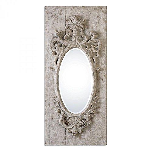 Uttermost Guardia Gray-Ivory Oval Mirror Model-13927