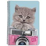 Grupo Erik Editores Cuaderno Tapa Dura A5 5X5 Studio Pets Cat Camera