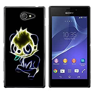 Planetar® ( Glowing Panda ) Sony Xperia M2 / Xperia M2 Aqua / Sony Xperia M2 DualFundas Cover Cubre Hard Case Cover
