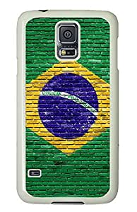 Samsung Galaxy S5 custom made cover Cool Brazil Flag PC White Custom Samsung Galaxy S5 Case Cover