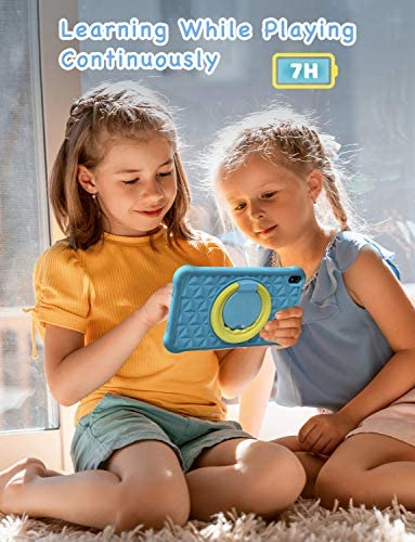 Arknikko SophPadX11 Kids Tablet, 7 inch IPS HD Display, GMS Android 10 Quad-Core, 2GB RAM 32GB ROM, Kidoz Pre-Installed & Parent Control, Dual Cameras, Kid-Proof Case, Screen Protector (Blue)…