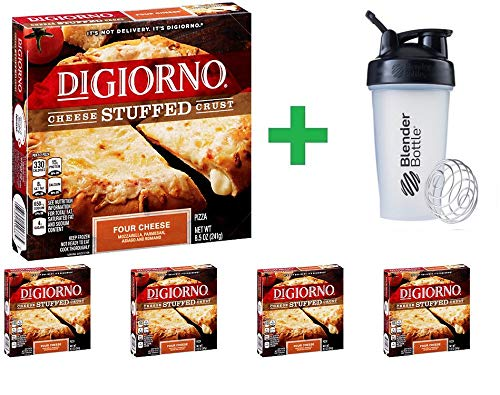 DiGiorno Cheese Stuffed Crust Four Cheese Pizza 8.5 oz (5 PCS) + Sundesa, BlenderBottle, Classic With Loop