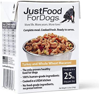 SimplyFoodForDogs Pantry Fresh Human Edible Whole Grain Natural Ready to Serve Dog Food - Turkey & Whole Wheat Macaroni (Set of 6)
