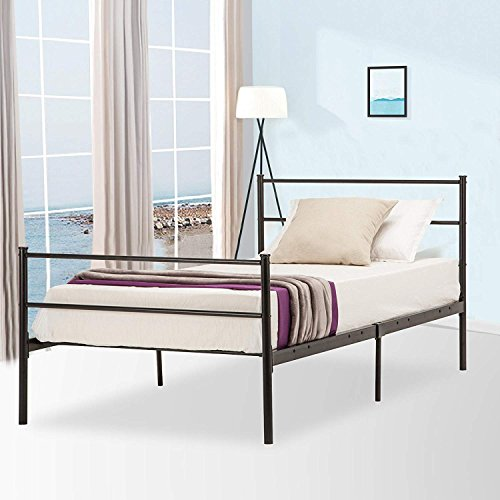 Mecor Reinforced Metal Bed Frame Twin Size/Platform Bed,with Metal ...