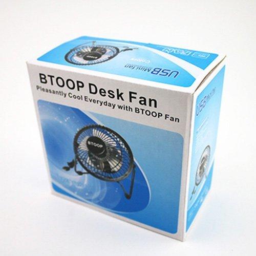 BTOOP 4 Inch Mini USB Desk Fan