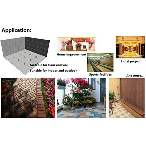 30%OFF 100pcs Ceramic Tile Leveling Tool Garden Floor Wall Tile Level Spacers Accessories (100pcs Base -)