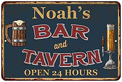 Amazon Com Chico Creek Signs Noah S Green Bar Tavern Personalized
