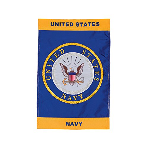 In the Breeze U.S. Navy Emblem Garden Flag